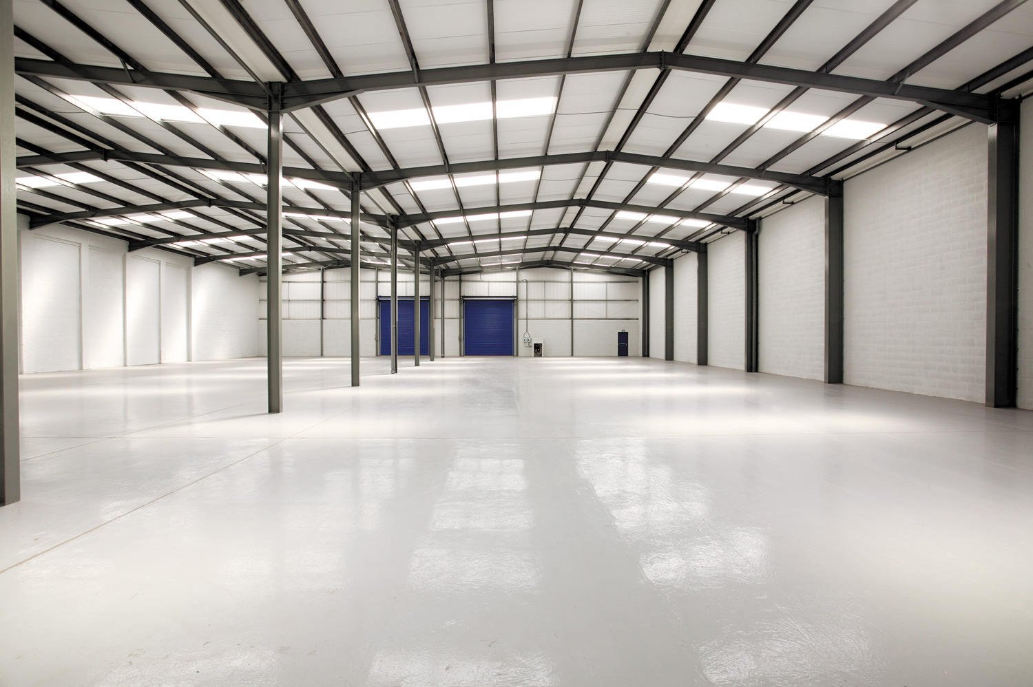 Interior of light industrial unit to let on Gravelly Industrial Park, Birmingham
